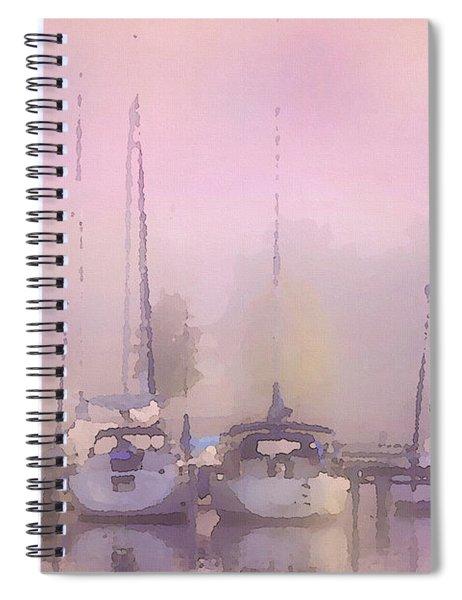 Purple Marina Morning Spiral Notebook