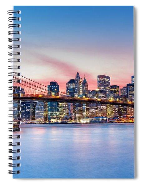 Purple Nyc Sunset Spiral Notebook