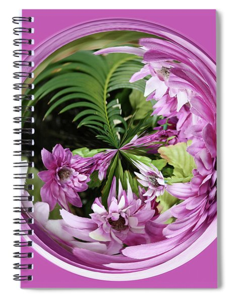 Purple Orb Spiral Notebook