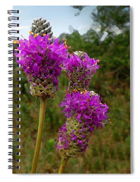Purple Prairie Clover Spiral Notebook