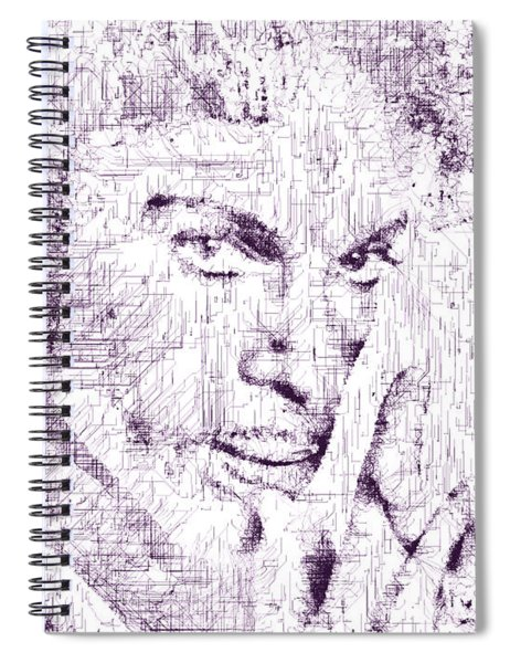Spiral Notebook featuring the digital art Purple Rain By Prince by ISAW Company