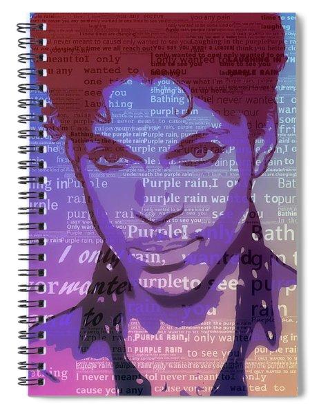 Purple Rain Typography Spiral Notebook