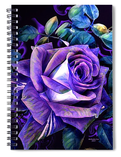 Purple Rose Bud Painting Spiral Notebook