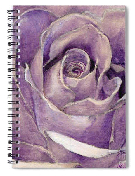 Purple Rose Spiral Notebook