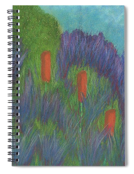 Purple Strife And Cattails Spiral Notebook