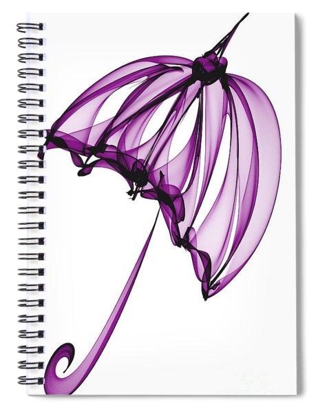 Purple Umbrella Spiral Notebook