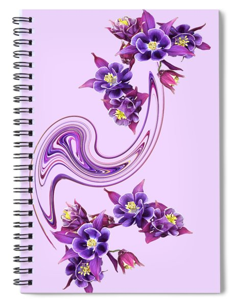 Purple Velvet Spiral Notebook