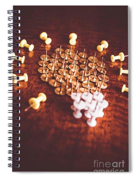 Pushpins And Thumbtacks Arranged As Light Bulb Spiral Notebook