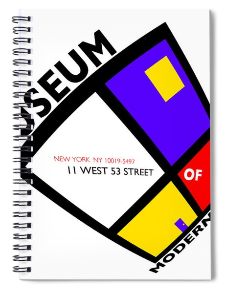 Putting On De Stijl Spiral Notebook