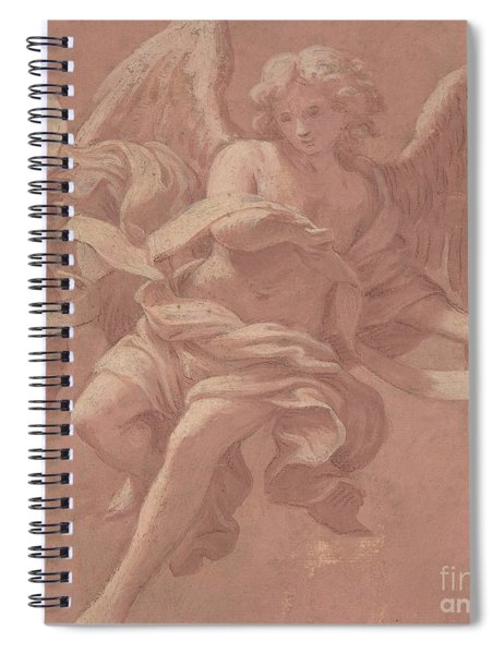 Putto And Angel Holding A Banderole, 1706  Spiral Notebook