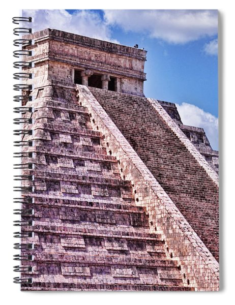 Pyramid Of Kukulcan At Chichen Itza Spiral Notebook