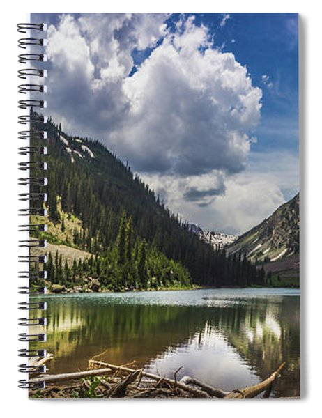 Pyramid Peak, Maroon Bells, And Crater Lake Panorama Spiral Notebook