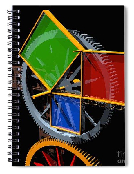 Pythagorean Machine Spiral Notebook