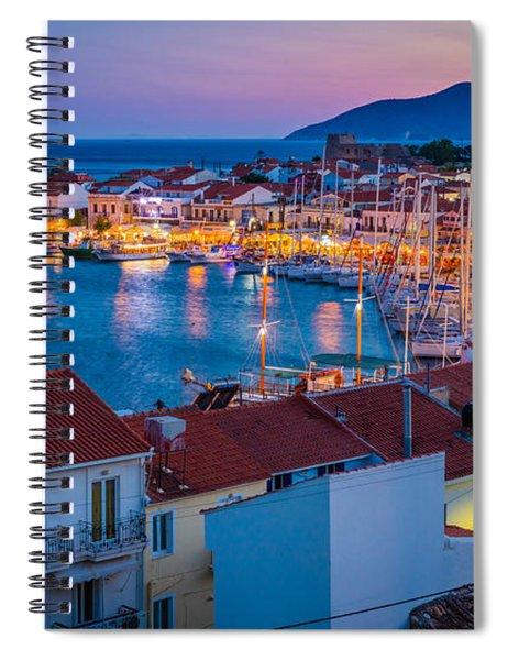 Pythagoreio Evening Spiral Notebook