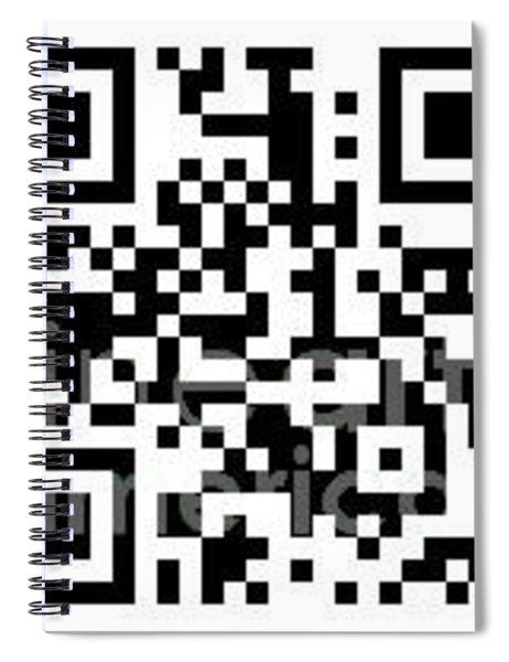Qr Code Kip-devore.pixels.com Spiral Notebook