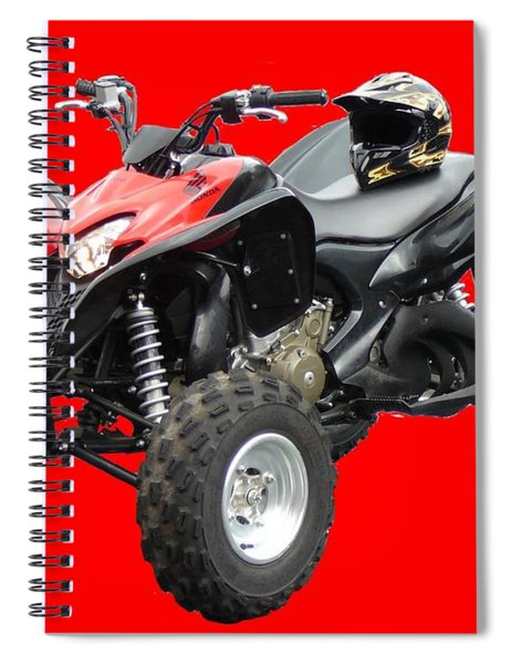 Quad Bike And Helmet Spiral Notebook