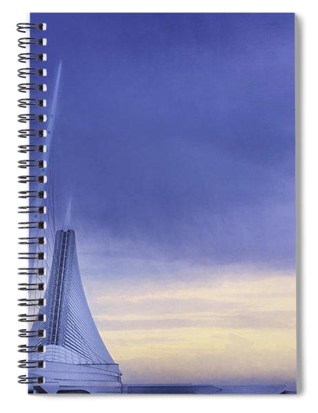 Quadracci Pavilion Sunrise Spiral Notebook