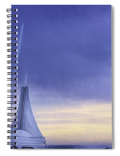 Quadracci Pavilion Sunrise Spiral Notebook