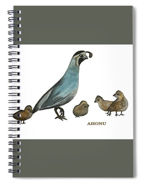 Quail Family Spiral Notebook