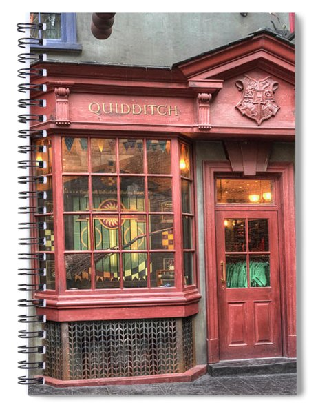 Spiral Notebook featuring the photograph Quality Quidditch Supplies by Jim Thompson