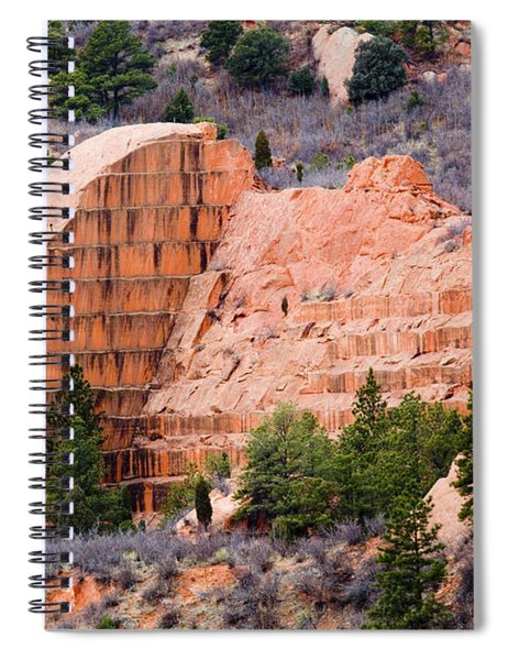 Quarry Closup At Red Rock Canyon Colorado Springs Spiral Notebook