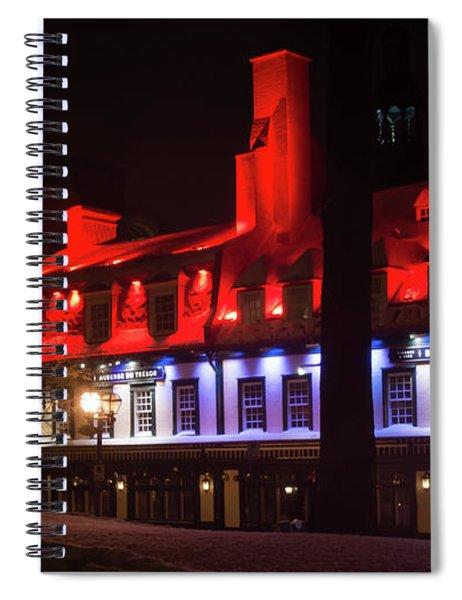 Quebec City At Night Bistro 1640 Spiral Notebook