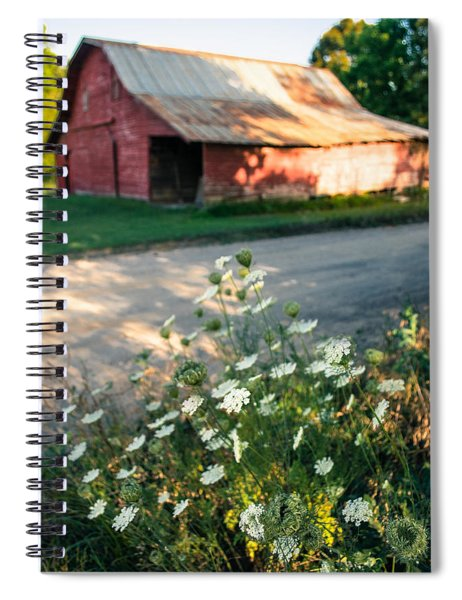 Queen Anne's Lace By The Barn Spiral Notebook
