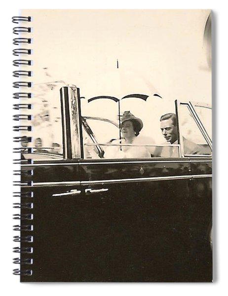 Queen Elizabeth And King George Vi Spiral Notebook