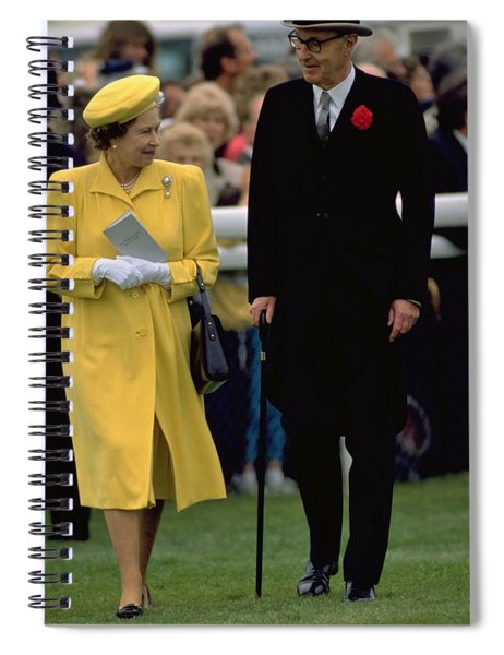 Queen Elizabeth Inspects The Horses Spiral Notebook