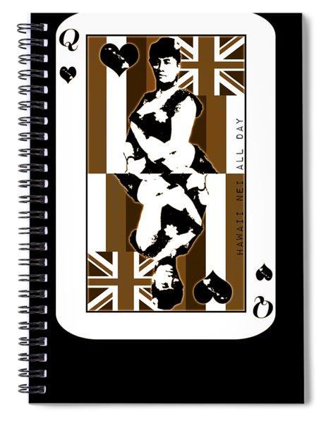 Queen Of Hawai'i Liliuokalani By Hawaii Nei All Day Spiral Notebook
