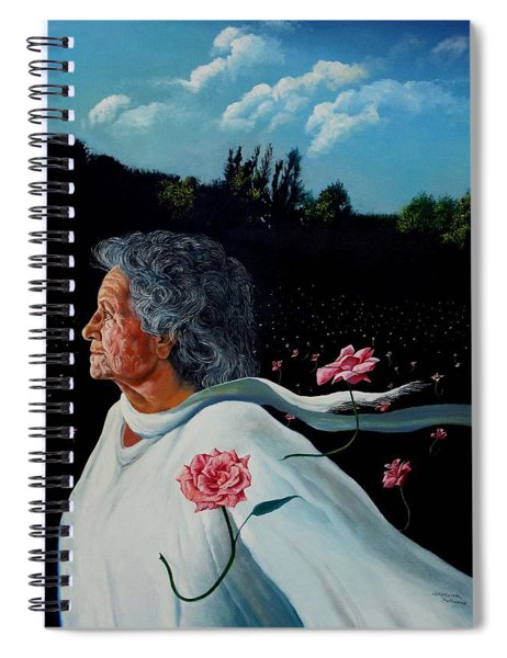 Queen Of Roses Spiral Notebook