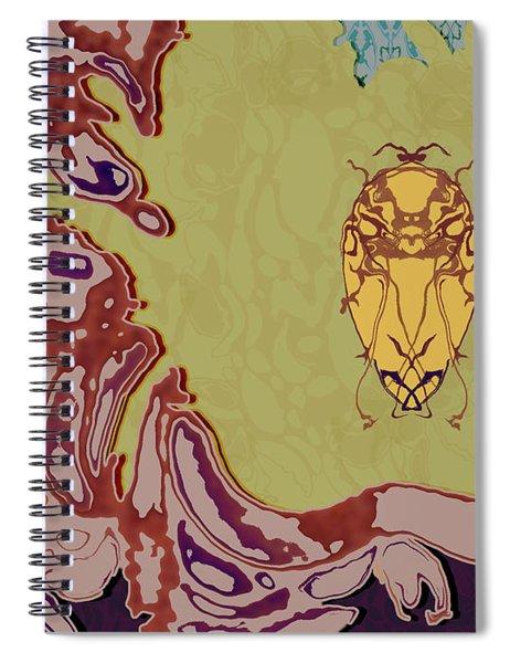 Queen Scarab Spiral Notebook