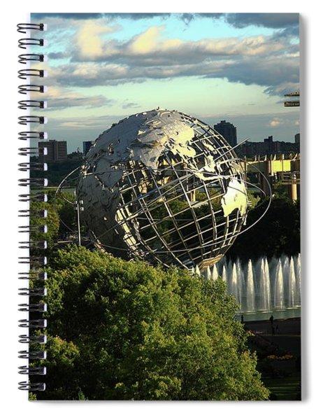 Queens New York City - Unisphere Spiral Notebook