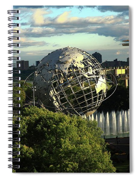 Queens New York City - Unisphere Spiral Notebook