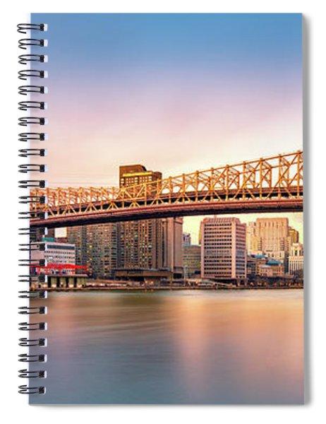 Queensboro Bridge At Sunset Spiral Notebook