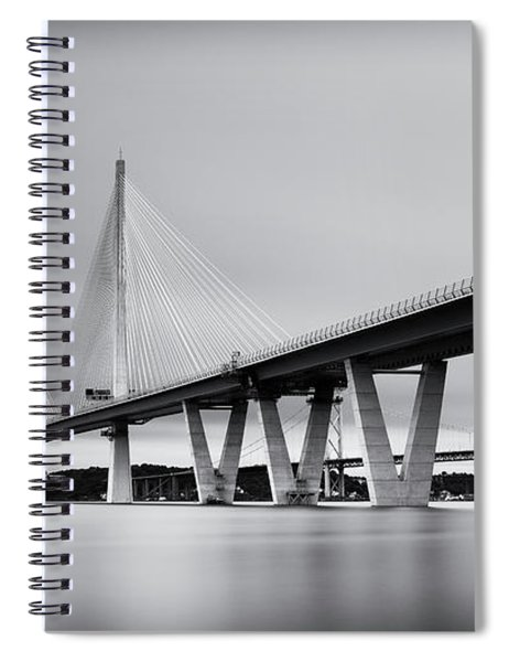 Queensferry Crossing Bridge Mono Spiral Notebook