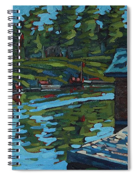 Quiet Morning At Chaffeys Spiral Notebook