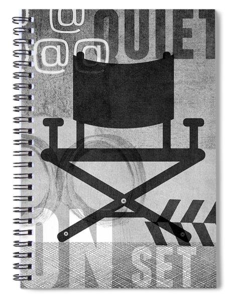 Quiet On Set- Art By Linda Woods Spiral Notebook