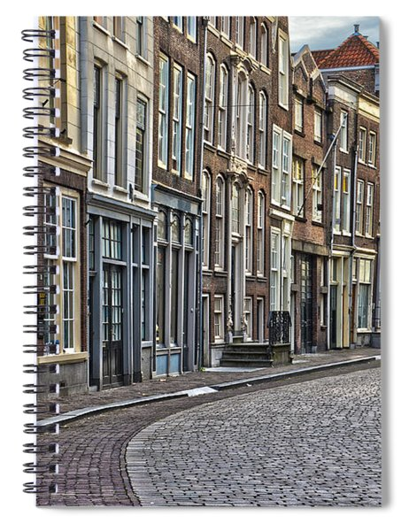Quiet Street In Dordrecht Spiral Notebook