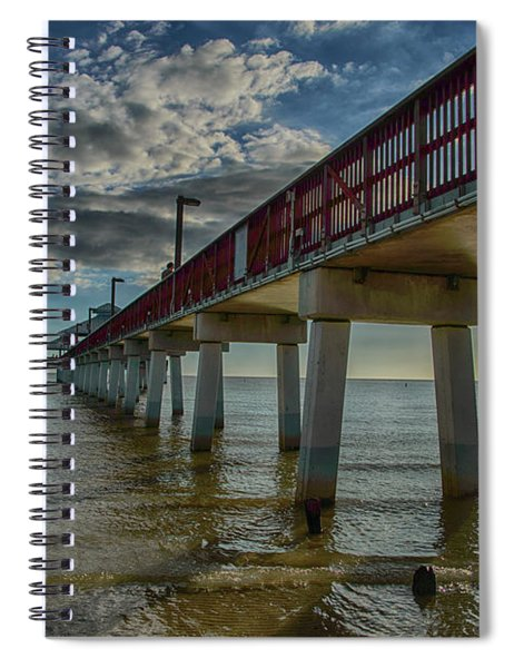 Quiet Time At The Beach Spiral Notebook