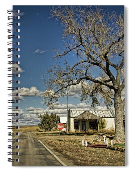 Quinn Town, South Dakota Country Road Spiral Notebook