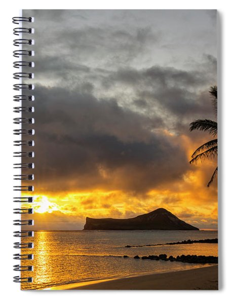 Rabbit Island Sunrise - Oahu Hawaii Spiral Notebook
