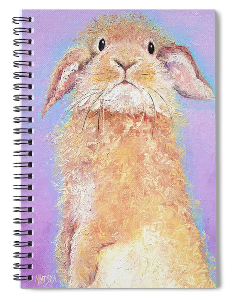 Rabbit Painting - Babu Spiral Notebook