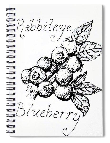 Rabbiteye Blueberry Spiral Notebook
