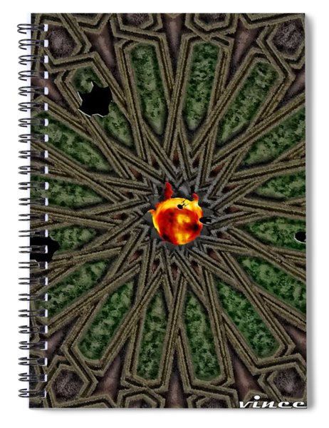 Race For Time In A Space Spiral Notebook