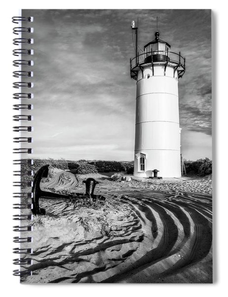 Race Point Light Provincetown Ma Bw Spiral Notebook