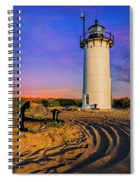 Race Point Light Provincetown Ma Spiral Notebook