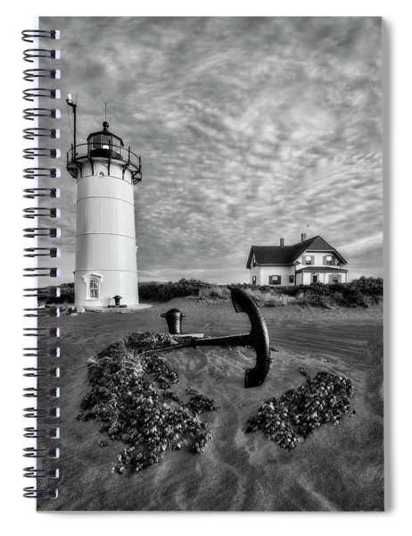 Race Point Lighthouse Bw Spiral Notebook