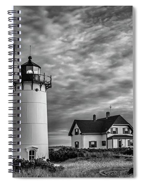 Race Point Lighthouse Sunset Bw Spiral Notebook