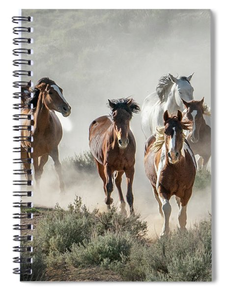 Racing To The Water Hole Spiral Notebook